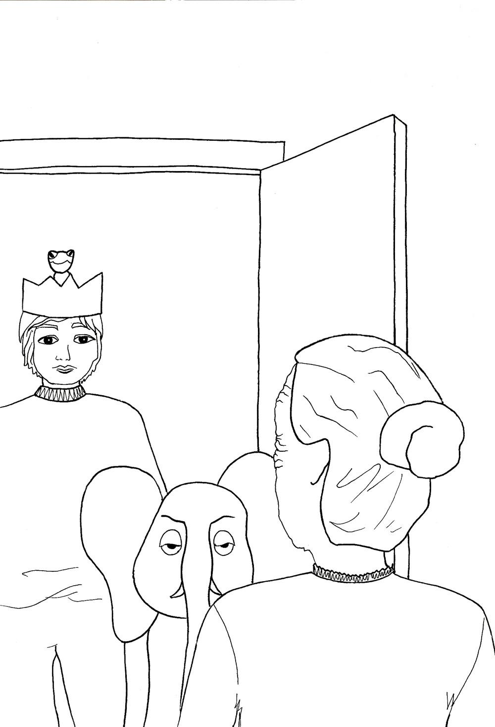 Le crapaud et le prince qui ne se trouvait pas charmant, fable de Nicolas Sarrasin et images de Michelle Riendeau