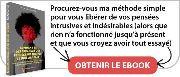 """Ebook """"Comment se débarrasser des pensées intrusives et indésirables"""" de Nicolas Sarrasin"""