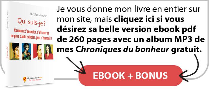 "Ebook pdf du livre ""Qui suis-je ? Redécouvrir son identité"" de Nicolas Sarrasin avec un bonus"