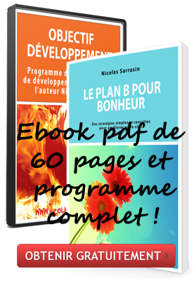 Ebook gratuit et programme de développement personnel de l'auteur Nicolas Sarrasin