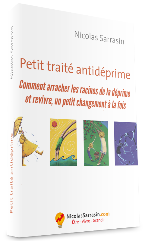 Couverture du livre Quatre saisons dans le bonheur: Petit traité antidéprime de Nicolas Sarrasin