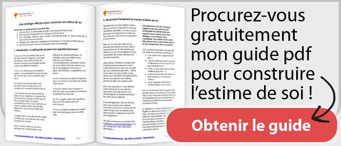 """Guide pdf """"Une stratégie efficace pour construire son estime de soi"""" de Nicolas Sarrasin"""