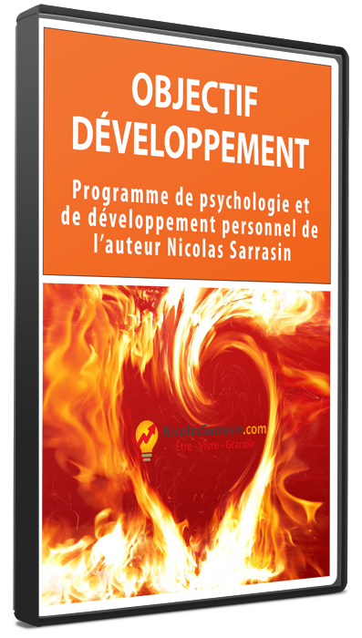 Programme de développement personnel et de psychologie de l'auteur Nicolas Sarrasin