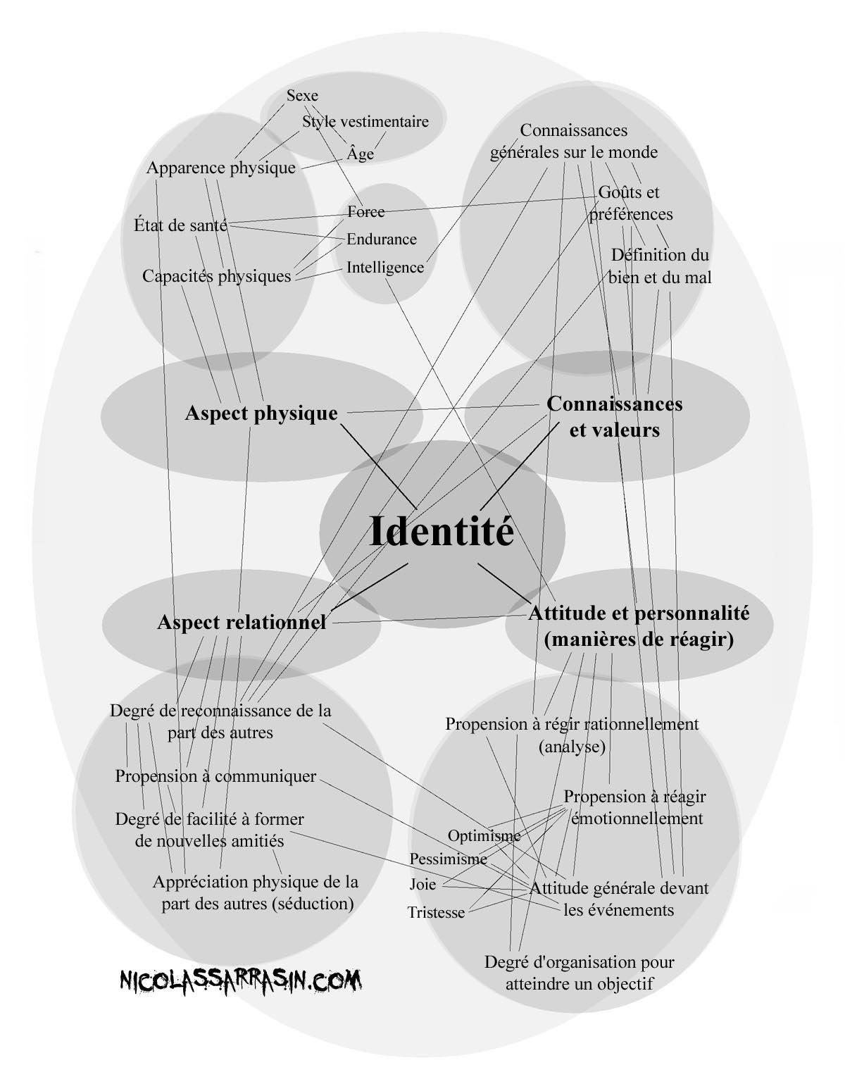 L'exemple de ce que contient une identité - Développement personnel sur NicolasSarrasin.com