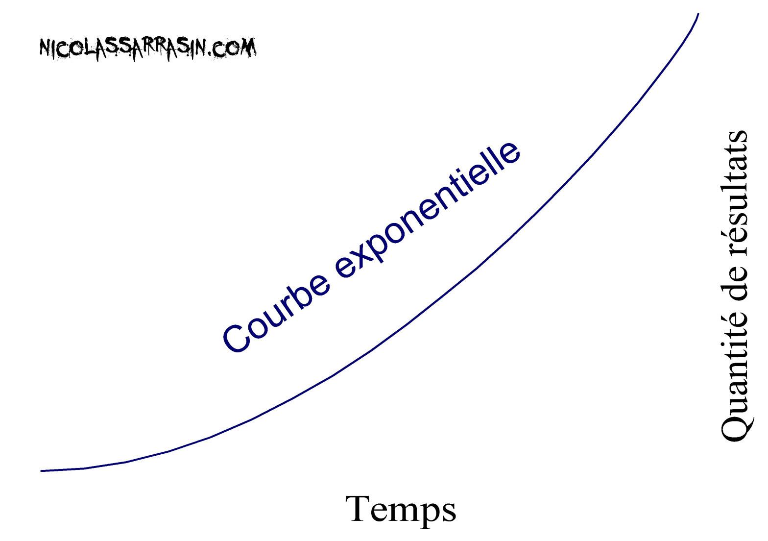 La courbe exponentielle de la réussite et le retour accéléré de l'efficience - NicolasSarrasin.com